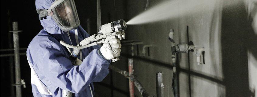 polyurea coating spray applied in Singapore