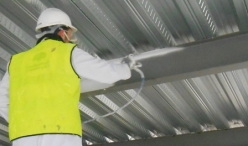 applying intumescent paint for steel structure in Singapore
