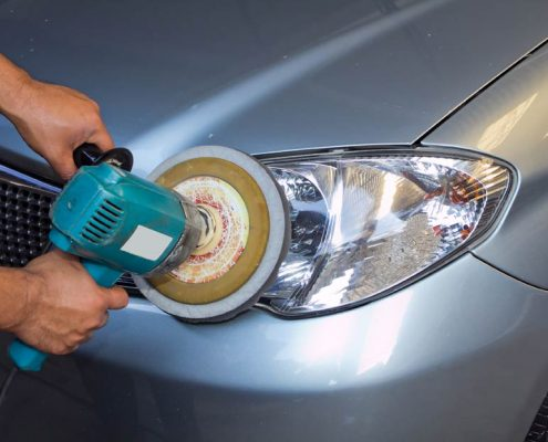 Teflon coating Singapore being applied on a car