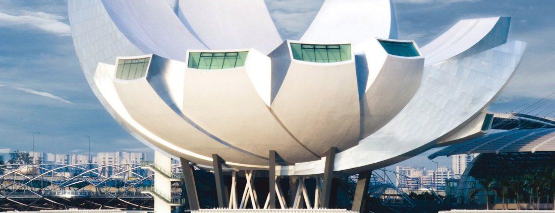 The Lotus Inspired ArtScience Museum.