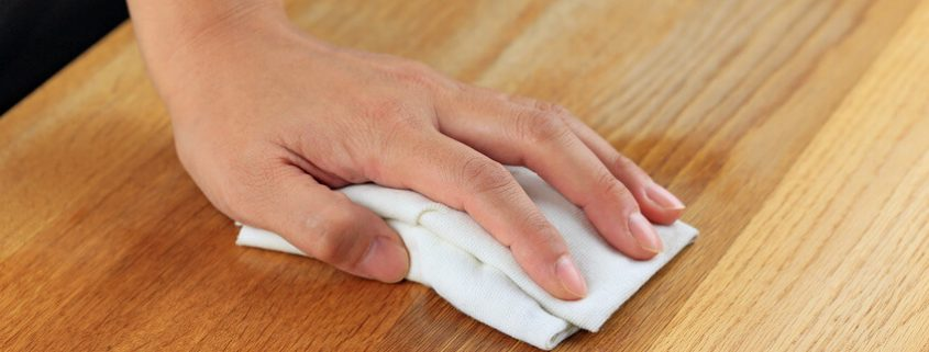 applying wipe on wood coating in Singapore