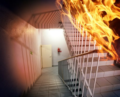 fire rated paint for steel on stairs to slow down burning