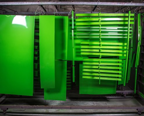 powder coating prices for green metal