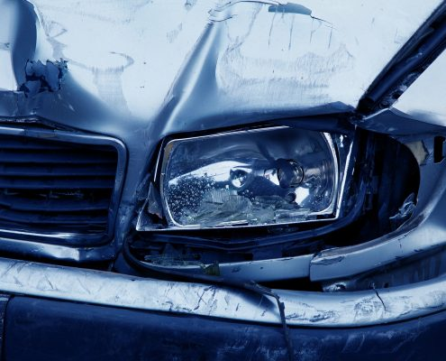 car repair paint needed on a crashed car