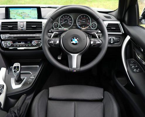 automotive interior coating in black bmw interior