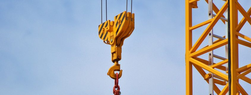 polyurethane paint on yellow crane