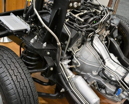 automotive underbody coating protecting engine from below