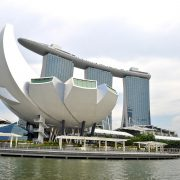 singapore opera house painted with coating containing binders and resins