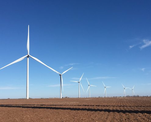 efficient wind farm thanks to wind turbine coating