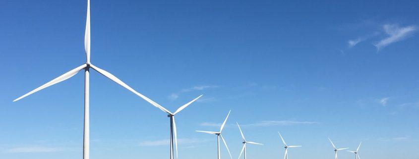 efficient wind farm thanks to wind turbine coating