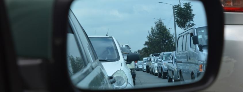 optical coatings on a car mirror