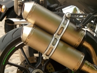 plasma coating applied as thermal spray on motorcycle exhaust